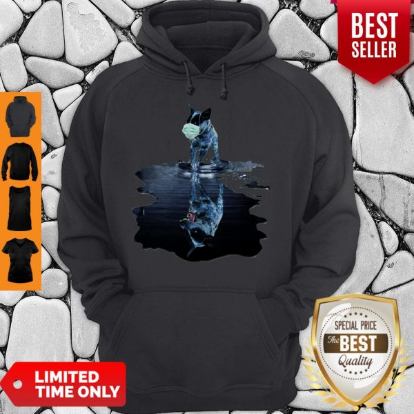 Nice Australian Cattle Dog Mask Reflection Water Mirror Hoodie
