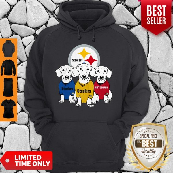Good Dachshund Dogs Pittsburgh Steelers Logo Hoodie