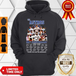 Good The Houston Astros 58th Anniversary 1962-2020 Signatures Thank You For The Memories Hoodie