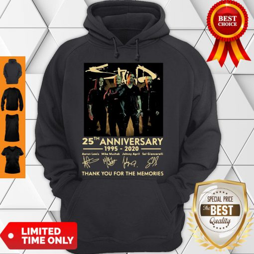 Pretty Staind 25th Anniversary 1995-2020 Signatures Thank You For The Memories Hoodie
