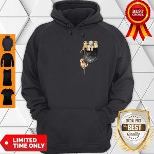Good Golden Retrievers Mask In Pocket Hoodie
