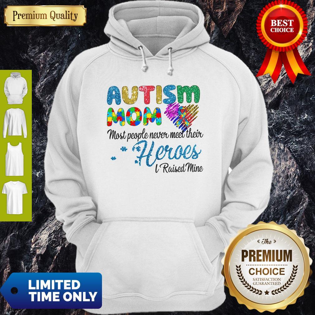 Nice Autism Mom Most People Never Meet Their Heroes I Raised Mice Awareness Hoodie
