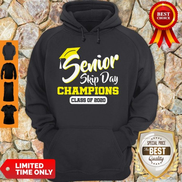 Top Senior 2020 Skip Day Champion Class Of 2020 Red Black Hoodie