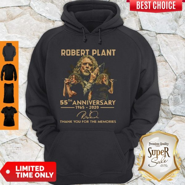 Premium Robert Plant 55th Anniversary 1965 2020 Signature Thank You For The Memories Hoodie
