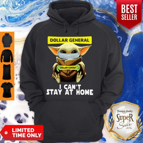 Top Star Wars Baby Yoda Face Mask Hug Dollar General I Can't Stay At Home Hoodie
