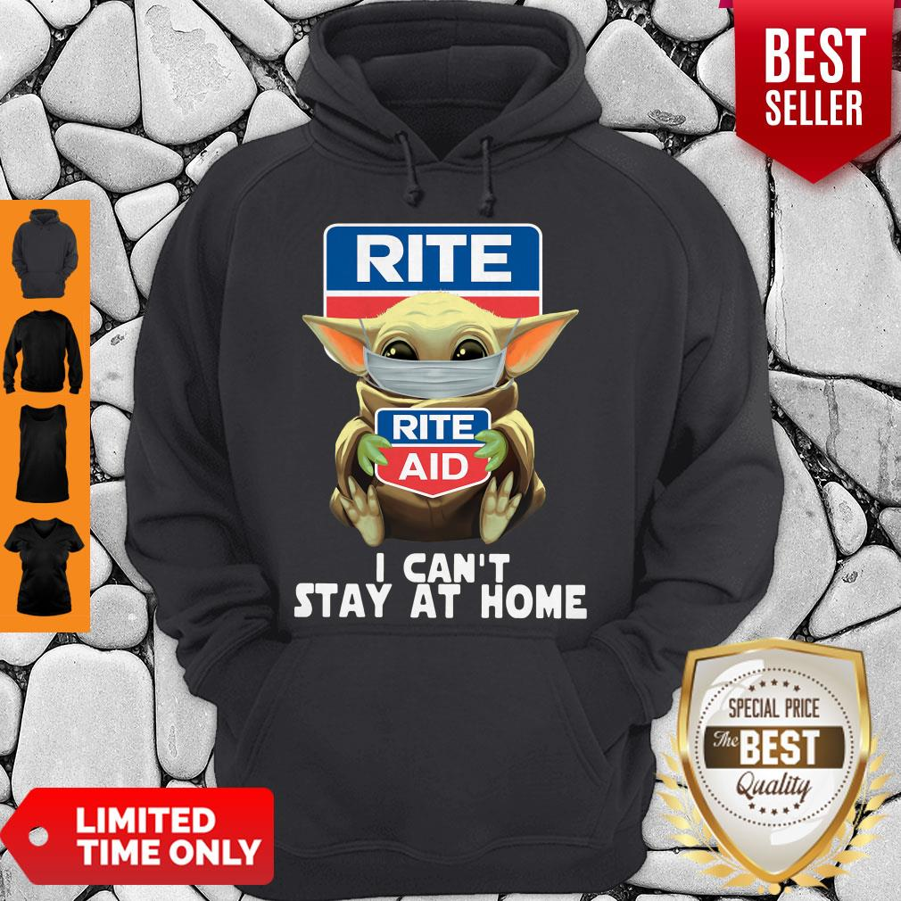 Pretty Baby Yoda Face Mask Hug Rite Aid I Can't Stay At Home Hoodie
