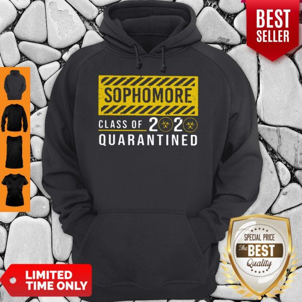 Premium Sophomore Class Of The Quarantined Sign Hoodie