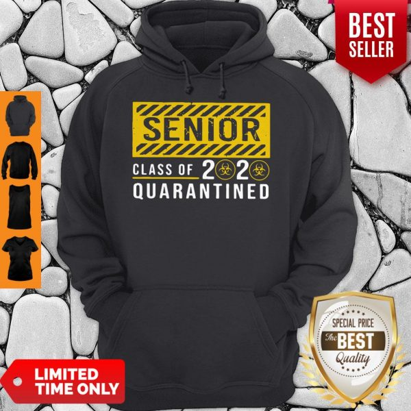 Pretty Senior Class Of The Quarantined Sign Hoodie