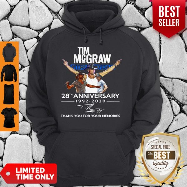 Nice Tim McGraw Truck Yeah 28th Anniversary 1992-2020 Signature Hoodie