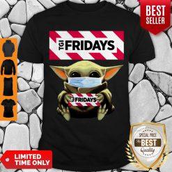 Nice Baby Yoda Mask TGI Fridays Coronavirus Shirt