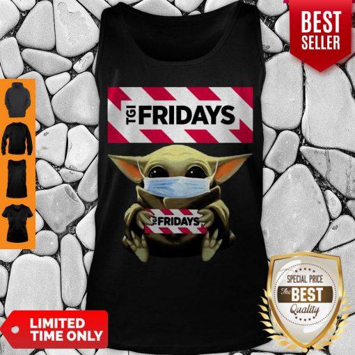 Nice Baby Yoda Mask TGI Fridays Coronavirus Tank Top