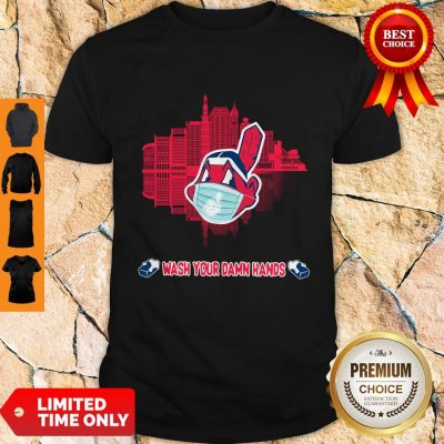 Official Wash Your Damn Hands Cleveland Indians T Shirt