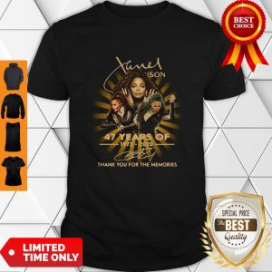 Nice Janet Jackson 47 Years Of 1973-2020 Signatures Thank You For The Memories Shirt