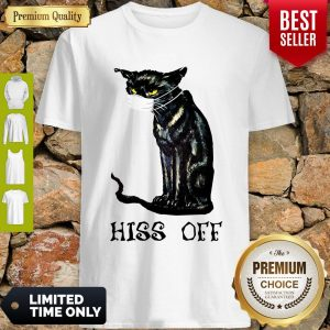 Premium Black Cat Covid Hiss Off Shirt
