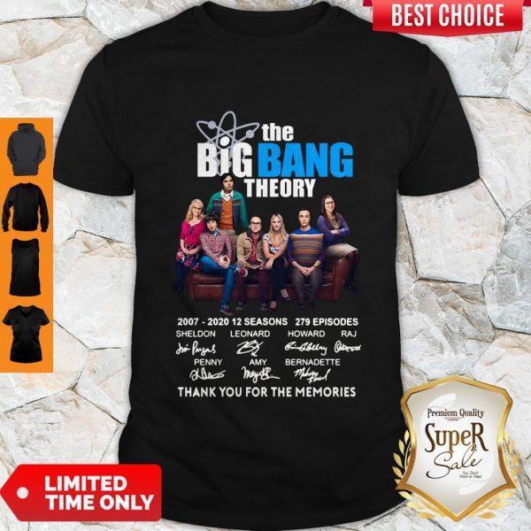 Nice The Big Bang Theory Thank You For The Memories Signature Shirt