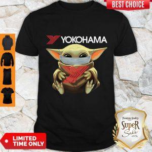 Official Baby Yoda Face Mask Yokohama Shirt
