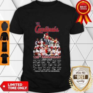 Top The St. Louis Cardinals 138th Anniversary 1882-2020 Signatures Thank You For The Memories Shirt