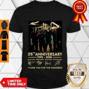Pretty Staind 25th Anniversary 1995-2020 Signatures Thank You For The Memories Shirt