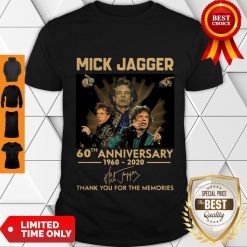 Funny Mick Jagger 60th Anniversary 1960-2020 Signatures Thank You For The Memories Shirt