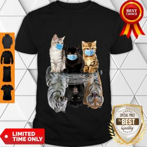 Nice Cats Face Mask Water Mirror Reflection Tigers Shirt