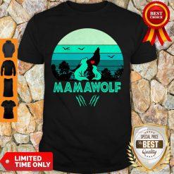 Nice Mama Wolf Vintage Mother's Day Gift Mom Grandma Shirt