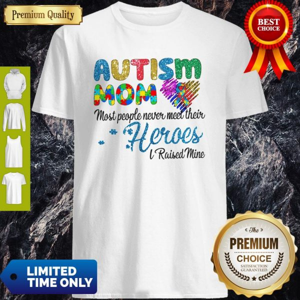 Nice Autism Mom Most People Never Meet Their Heroes I Raised Mice Awareness Shirt