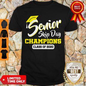 Top Senior 2020 Skip Day Champion Class Of 2020 Red Black Shirt