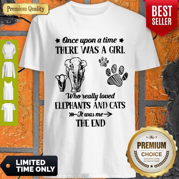 Good Once Upon A Time There Was A Girl Who Really Love Elephants And Cats It Was Me The End Shirt