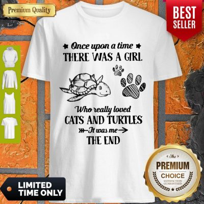 Official Once Upon A Time There Was A Girl Who Really Loved Cats And Turtles It Was Me The End Shirt