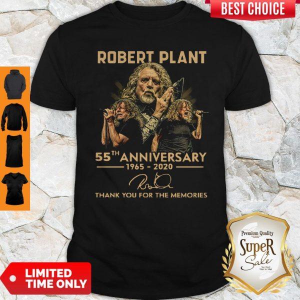 Premium Robert Plant 55th Anniversary 1965 2020 Signature Thank You For The Memories Shirt
