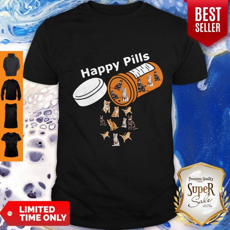 Pretty Happy Pills Version Cats Shirt