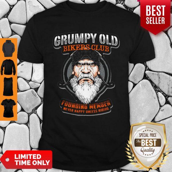 Pretty Grumpy Old Bikers Club Founding Member Shirt
