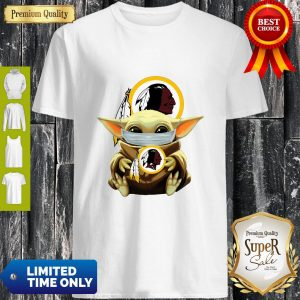 Official Baby Yoda Face Mask Hug Washington Redskins I Can't Stay At Home Shirt