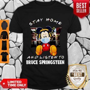 Top Mickey Stay Home And Listen To Bruce Springsteen Coronavirus Shirt