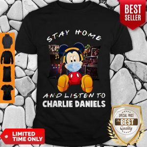 Official Mickey Mouse Stay Home And Listen To Charlie Daniels Corona Virus Shirt
