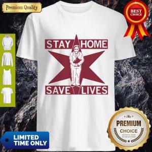 Pretty Lori Lightfoot Stay Home Save Lives Shirt