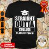 Nice Straight Outta College Class Of 2020 Toilet Paper Graduation Shirt
