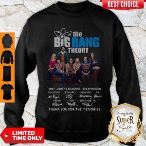 Nice The Big Bang Theory Thank You For The Memories Signature Sweatshirt