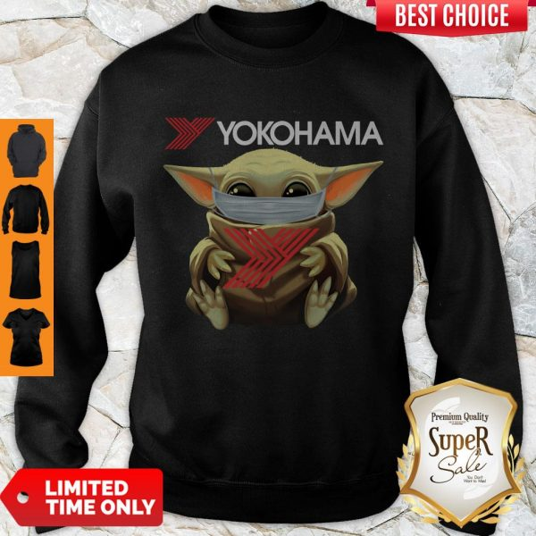 Official Baby Yoda Face Mask Yokohama Sweatshirt