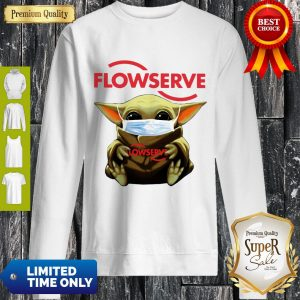 Top Baby Yoda Mask Flowserve I Can't Stay At Home Coronavirus Sweatshirt