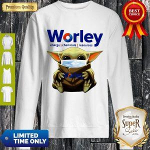 Good Baby Yoda Mask Worley Energy Coronavirus Sweatshirt