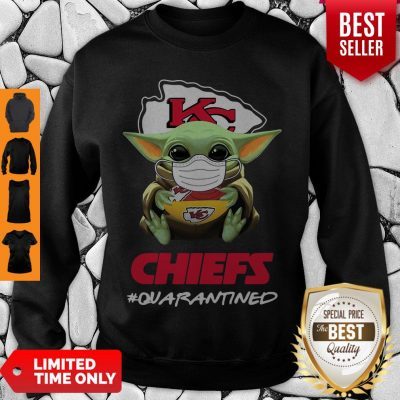 Official Baby Yoda Mask Kansas City Chiefs #Quarantined Coronavirus Sweatshirt