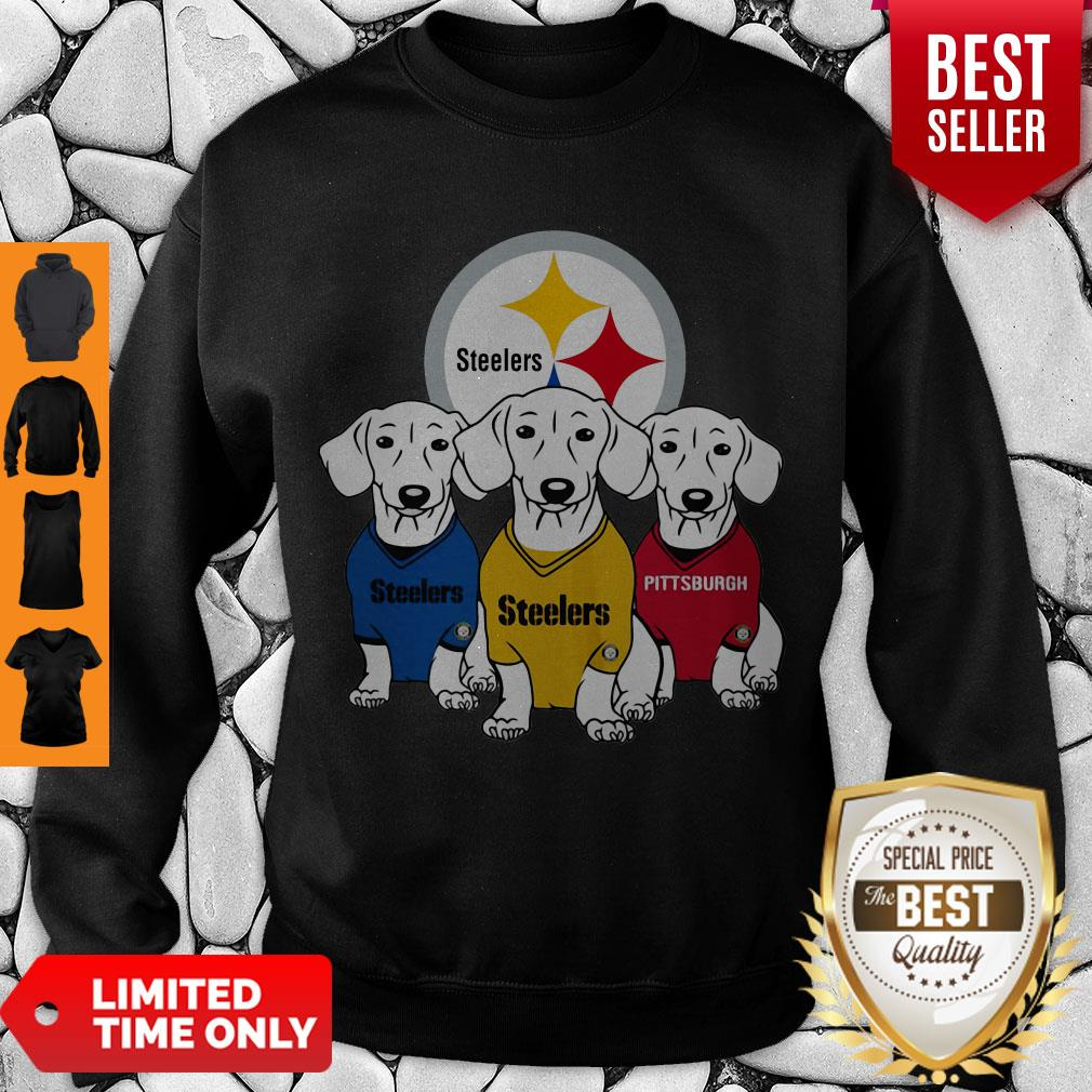Good Dachshund Dogs Pittsburgh Steelers Logo Sweatshirt