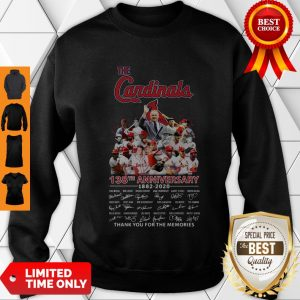 Top The St. Louis Cardinals 138th Anniversary 1882-2020 Signatures Thank You For The Memories Sweatshirt