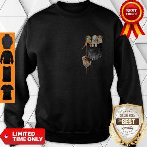 Good Golden Retrievers Mask In Pocket Sweatshirt