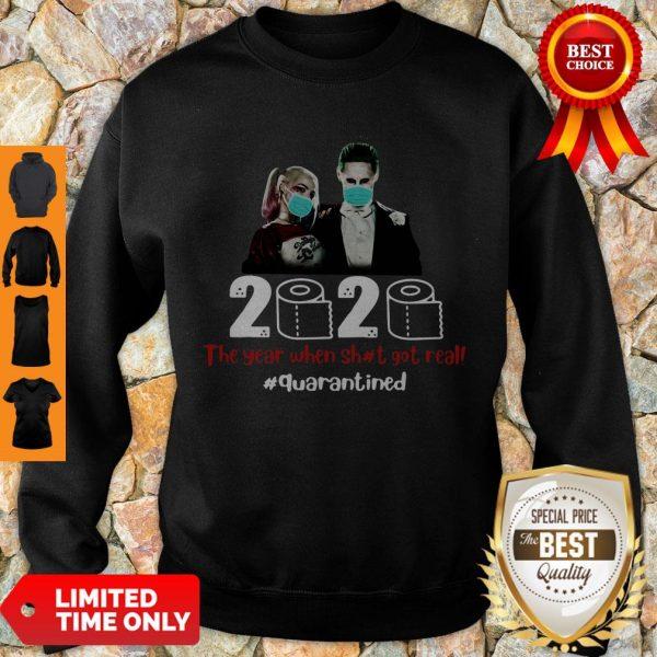 Nice Bioworld Harley Quinn And Joker Face Mask 2020 Quarantined Sweatshirt