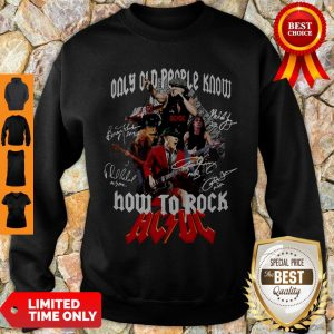 Good Only Old People Know How To Rock AC DC Sweatshirt