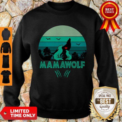 Nice Mama Wolf Vintage Mother's Day Gift Mom Grandma Sweatshirt