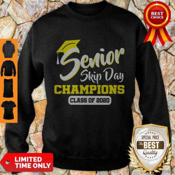 Top Senior 2020 Skip Day Champion Class Of 2020 Red Black Sweatshirt