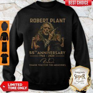 Premium Robert Plant 55th Anniversary 1965 2020 Signature Thank You For The Memories Sweatshirt